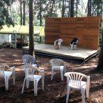 手作り野外ステージ